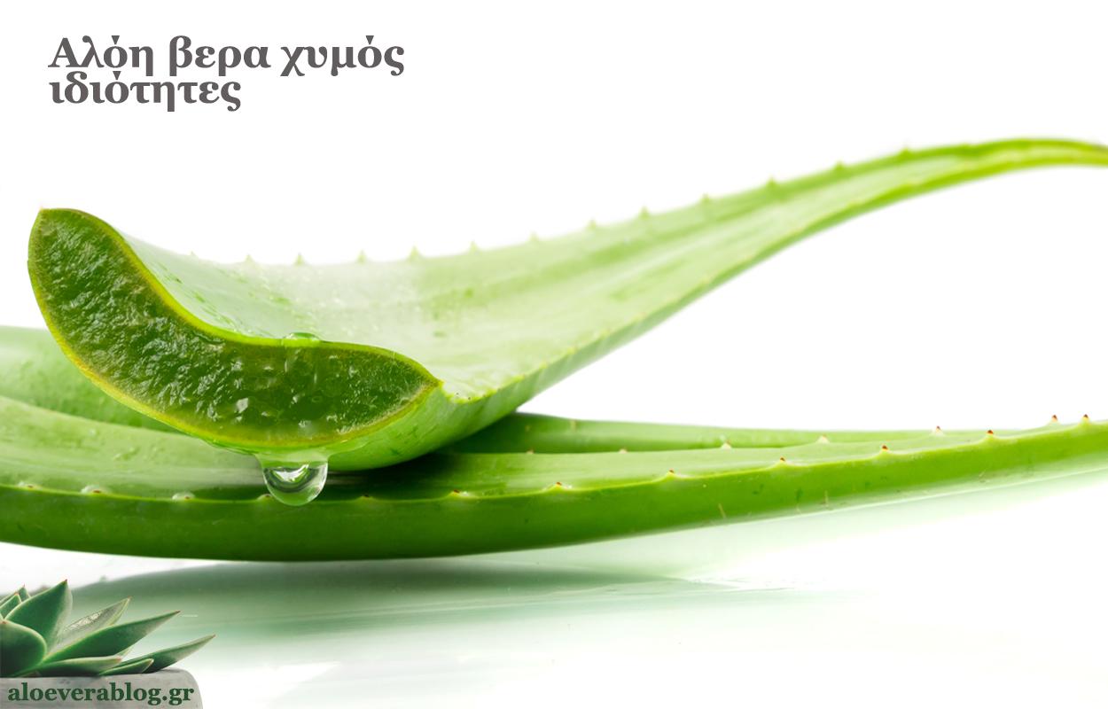 Αλόη βέρα χυμός ιδιότητες